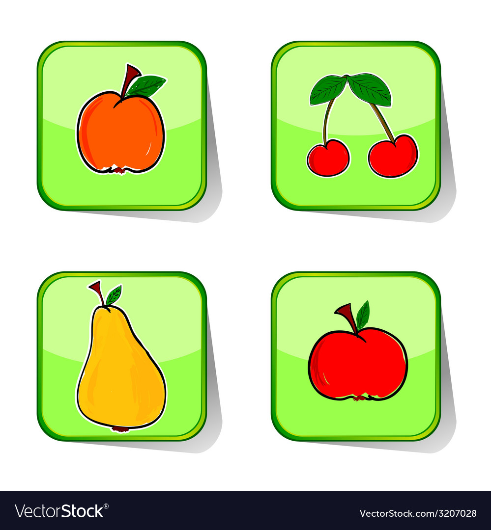 Fruit sticker color vector | Price: 1 Credit (USD $1)
