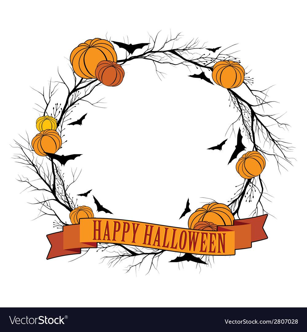 Halloween wreath 1 vector | Price: 1 Credit (USD $1)
