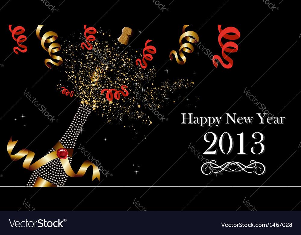 Happy new year 2013 banner vector