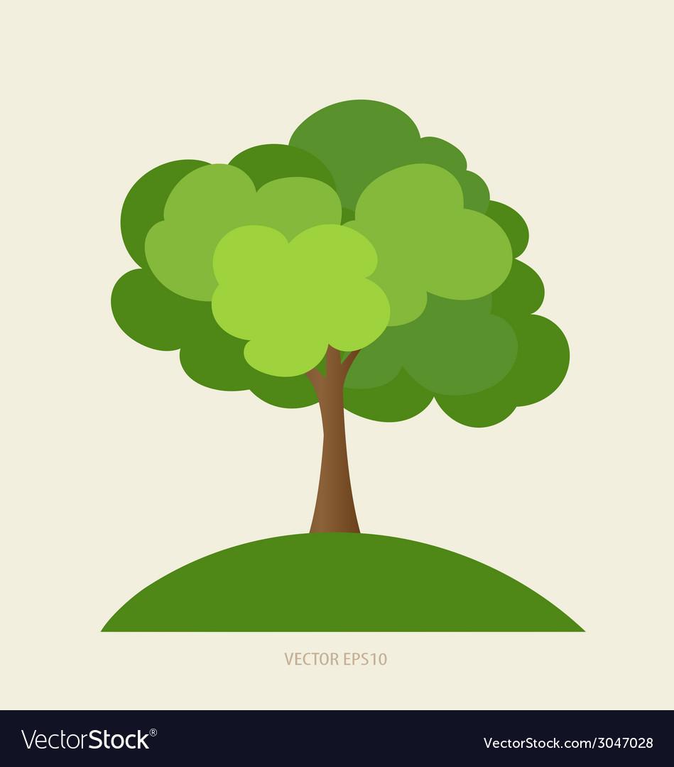 Paper green tree vector | Price: 1 Credit (USD $1)