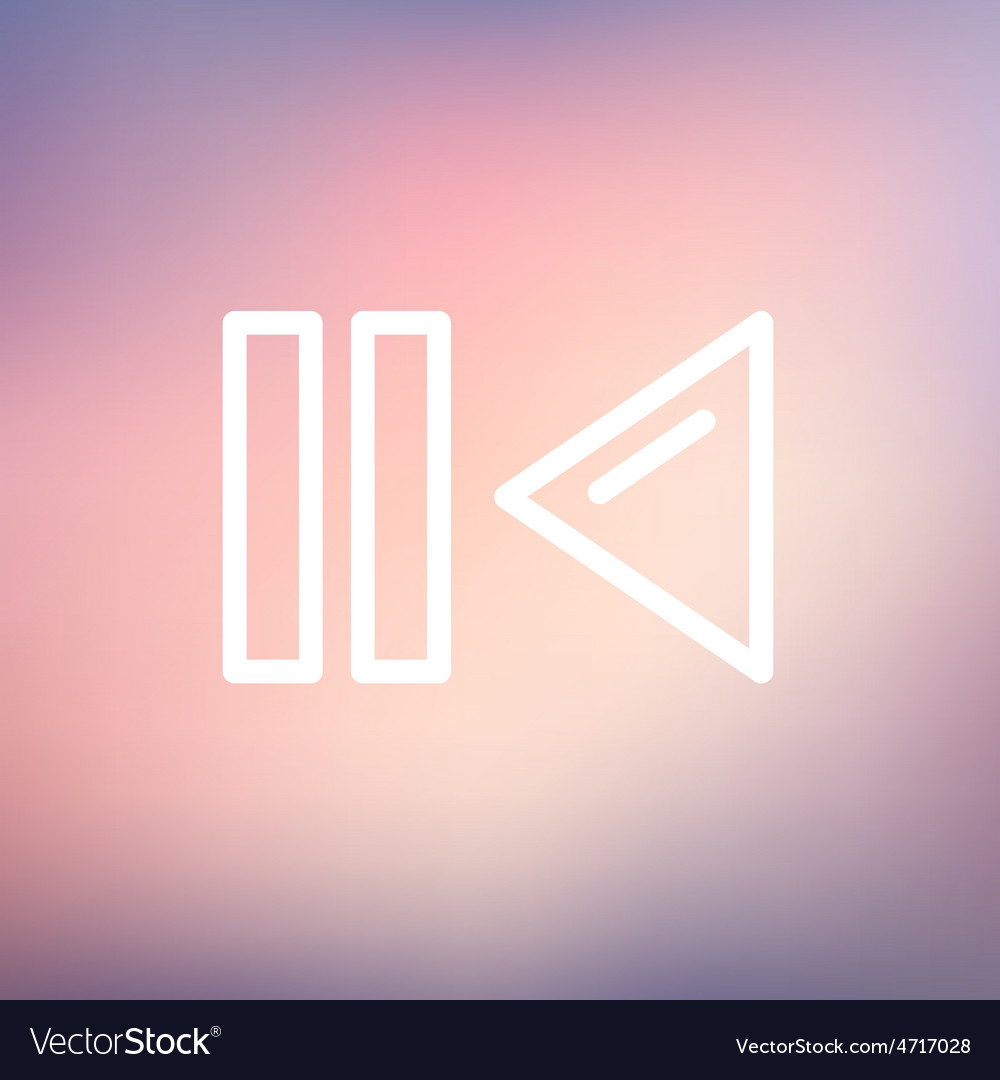 Pause and playback button thin line icon vector | Price: 1 Credit (USD $1)