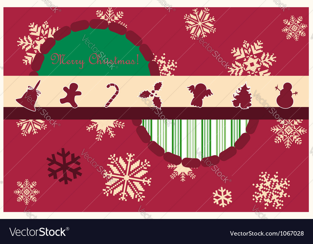 Red xmas card vector | Price: 1 Credit (USD $1)