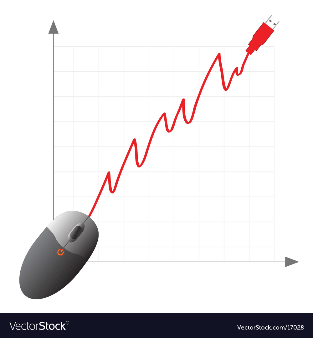 Usb computer mouse graph vector | Price: 1 Credit (USD $1)