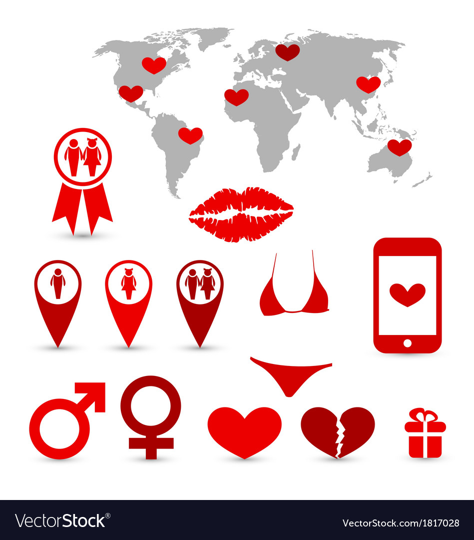 Valentines day infographics and design elements vector | Price: 1 Credit (USD $1)