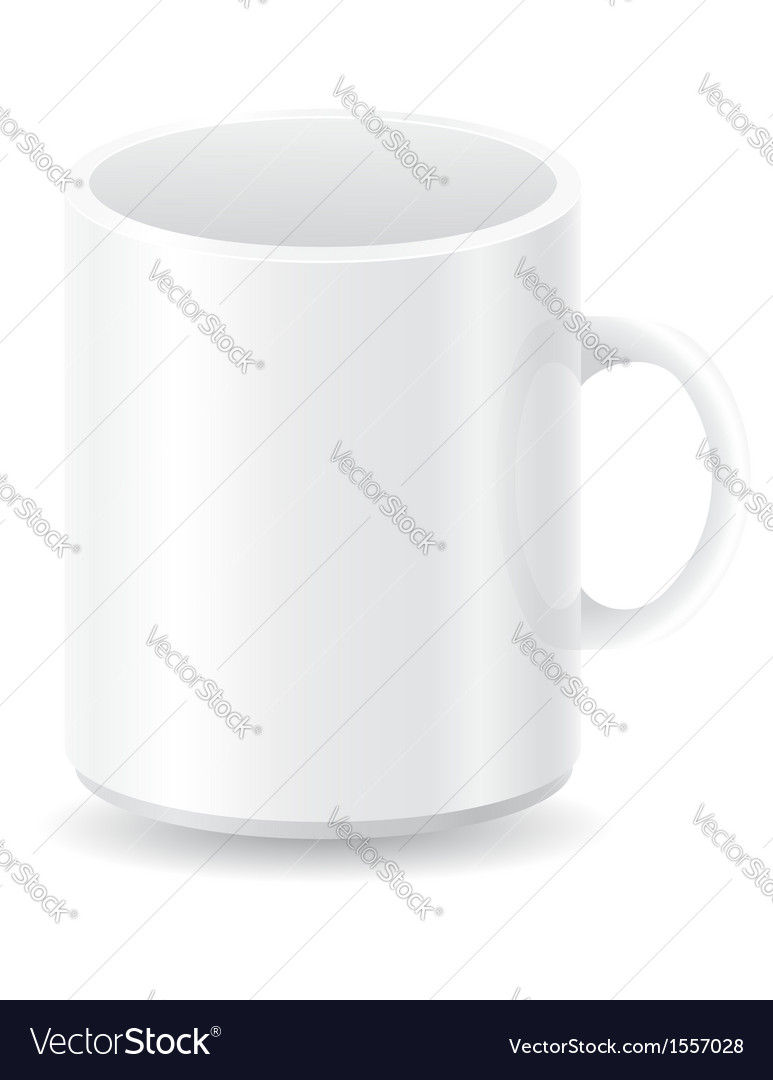 White blank cup vector | Price: 1 Credit (USD $1)