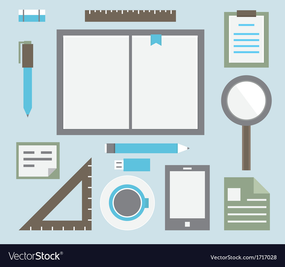 Workplace with tools vector | Price: 1 Credit (USD $1)