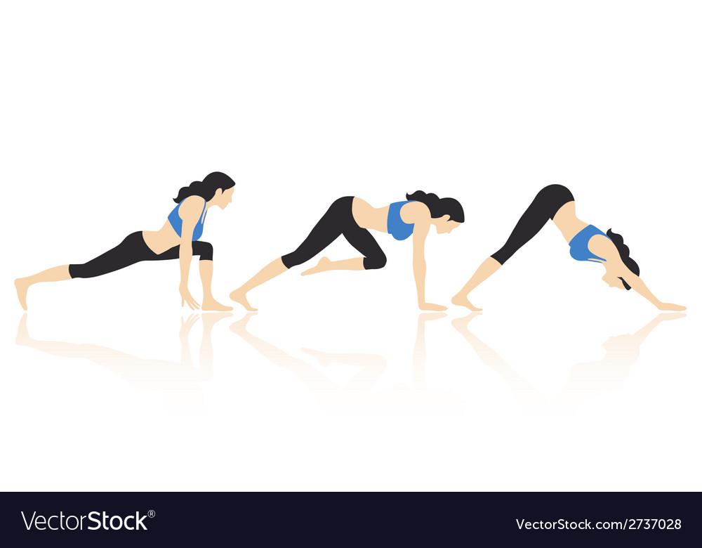Yoga poses vector | Price: 1 Credit (USD $1)