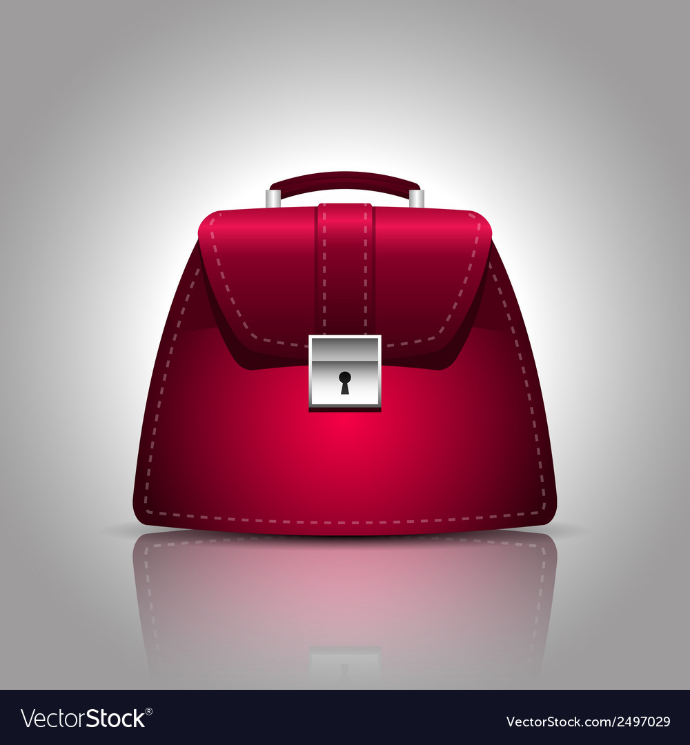 A burgundy women female handbag vector | Price: 1 Credit (USD $1)