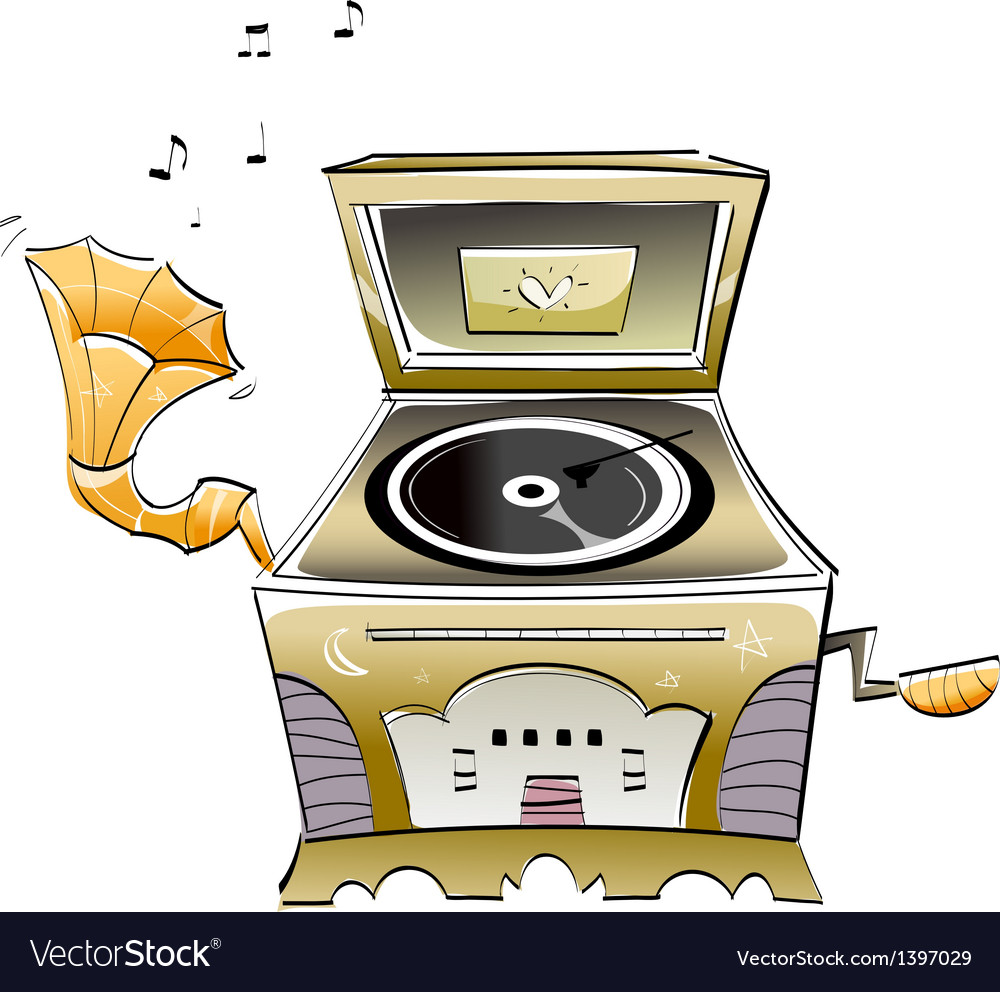 A gramophone vector | Price: 1 Credit (USD $1)