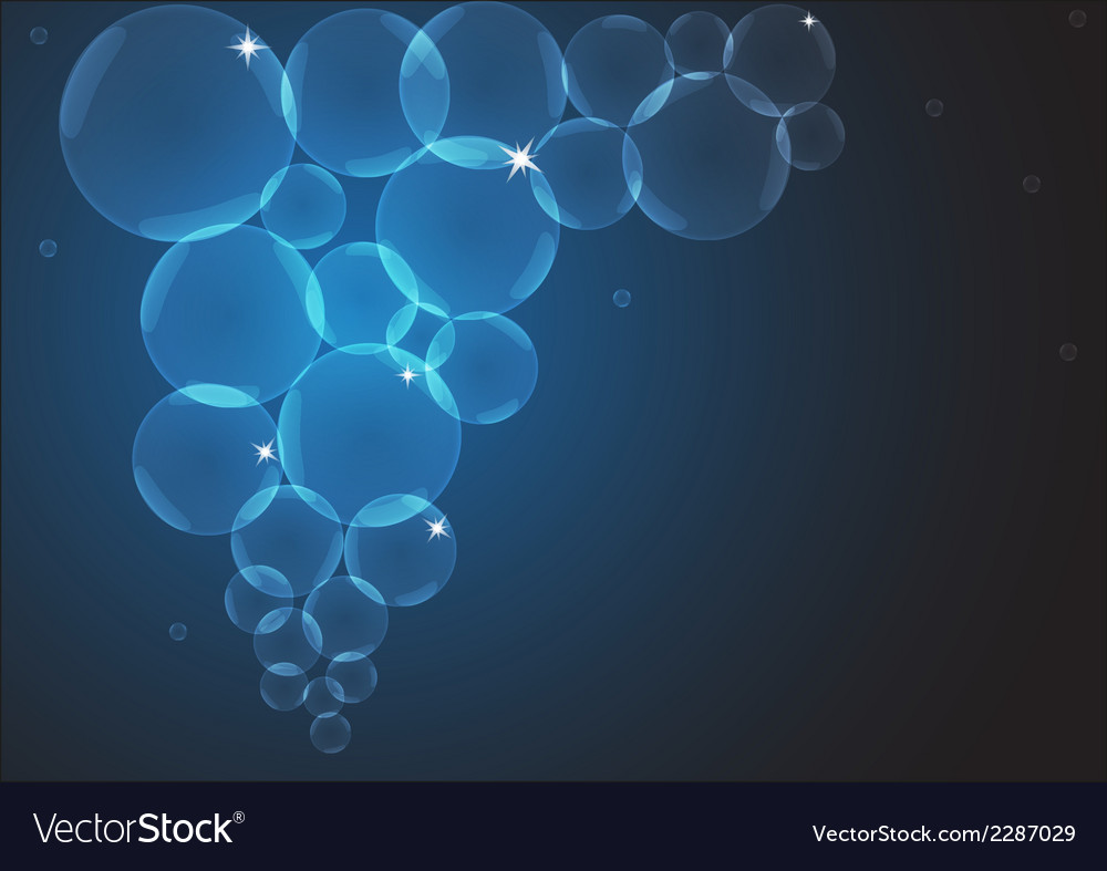 Background with sparkling bubbles vector | Price: 1 Credit (USD $1)