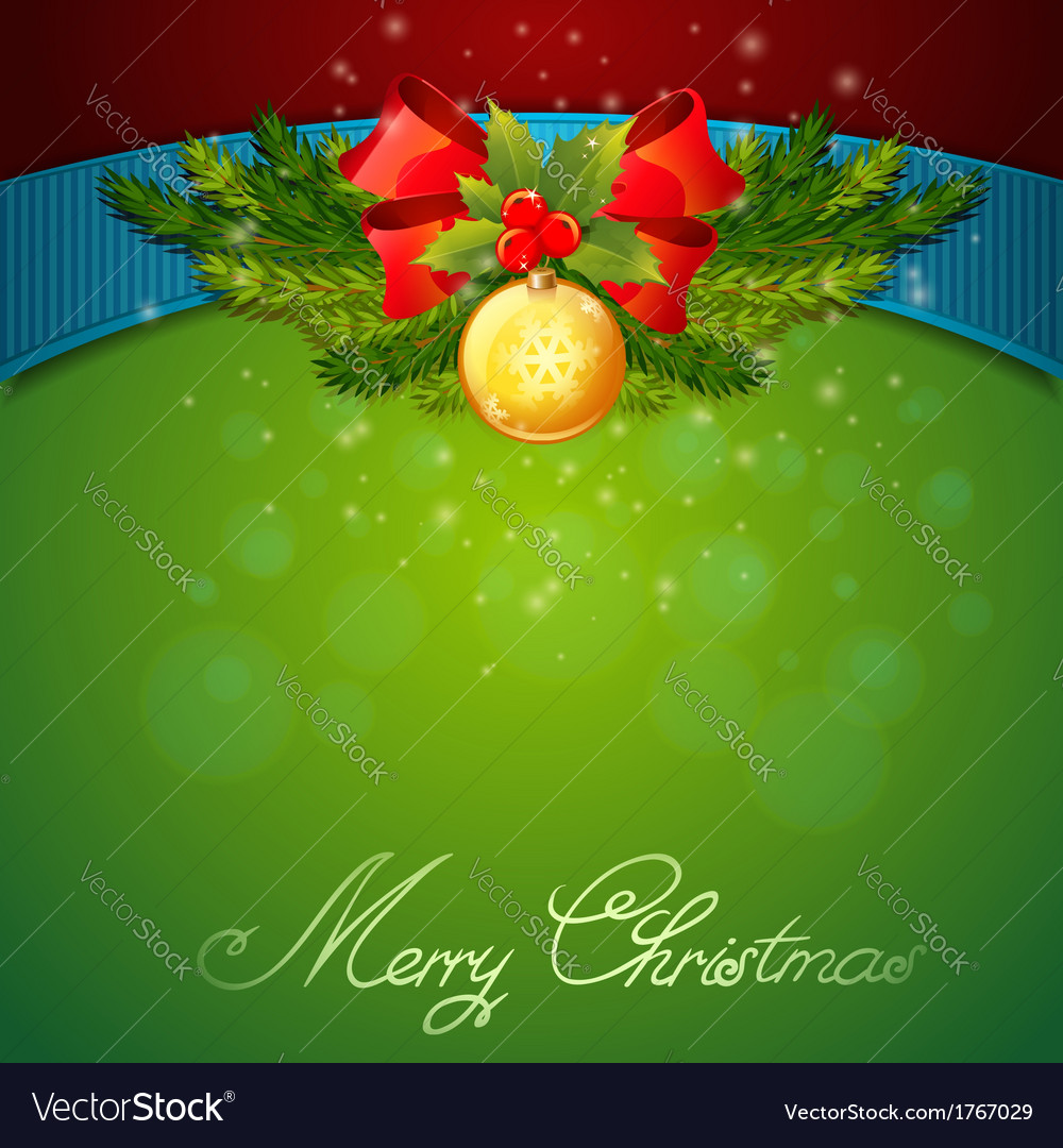 Christmas celebration sparkling postcard vector | Price: 1 Credit (USD $1)