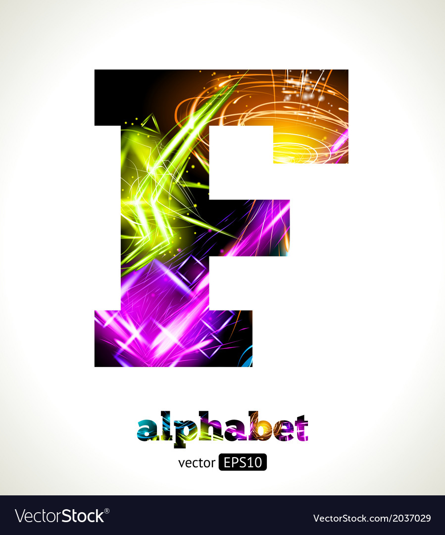 Design abstract letter f vector | Price: 1 Credit (USD $1)