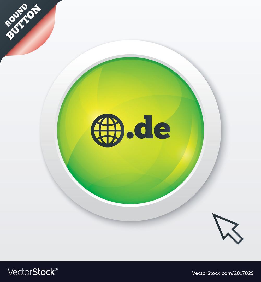 Domain de sign icon top-level internet domain vector | Price: 1 Credit (USD $1)