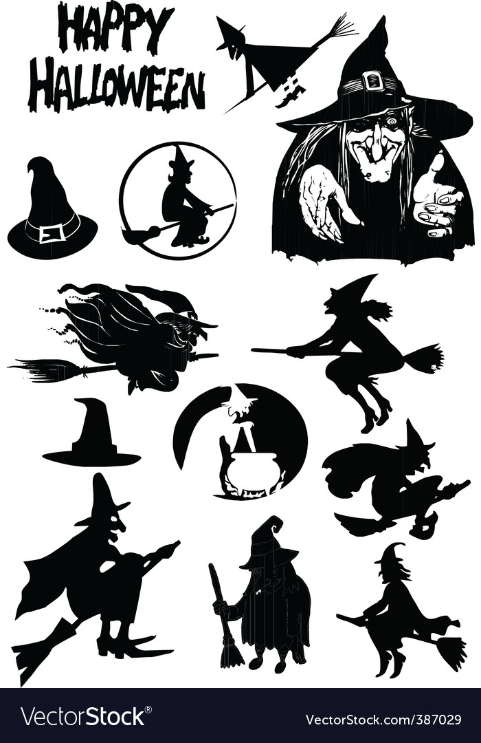 Halloween figures vector | Price: 1 Credit (USD $1)