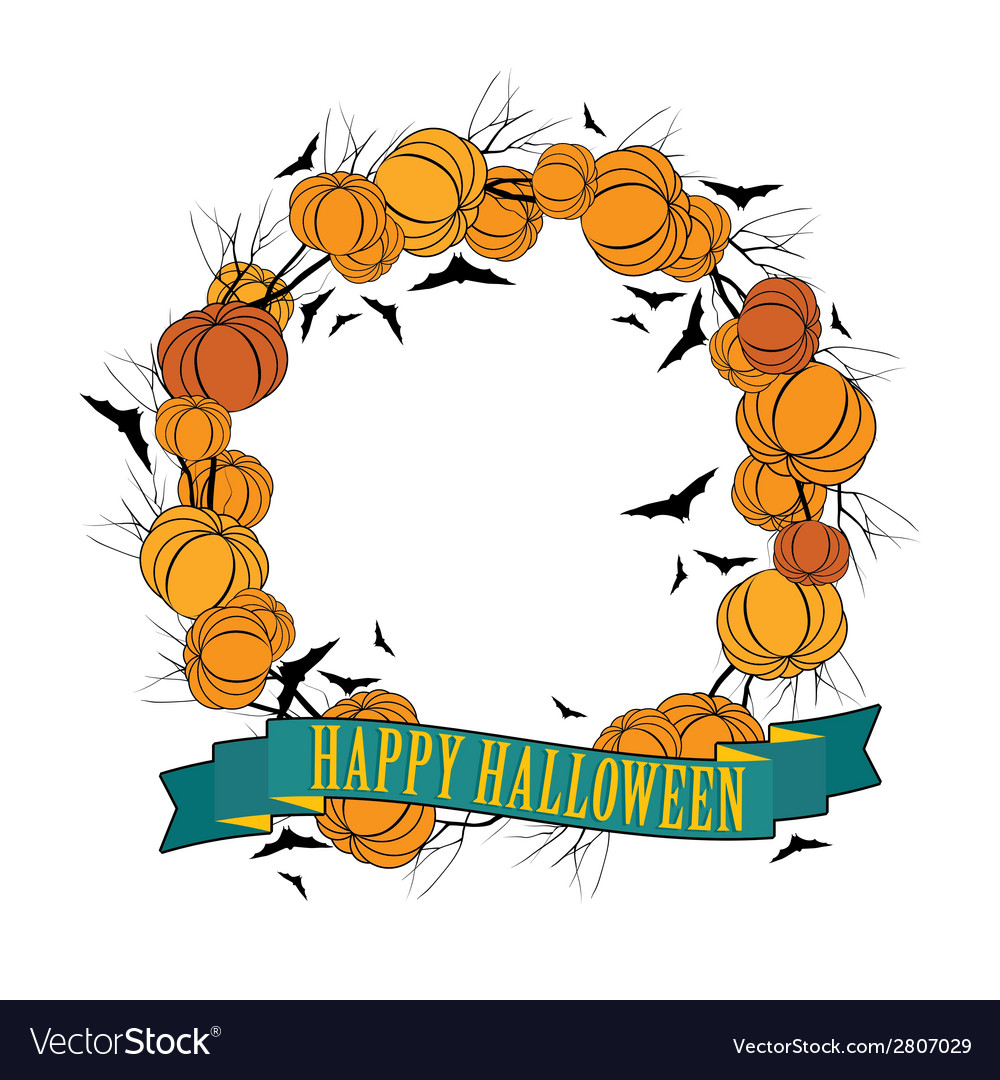 Halloween wreath 3 vector | Price: 1 Credit (USD $1)
