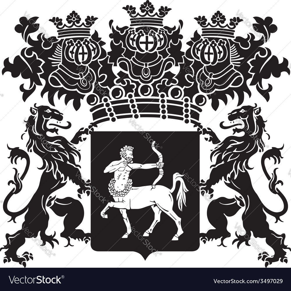 Heraldic silhouette no41 vector | Price: 1 Credit (USD $1)