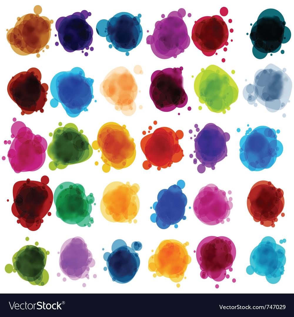 Paint speech bubbles vector | Price: 1 Credit (USD $1)