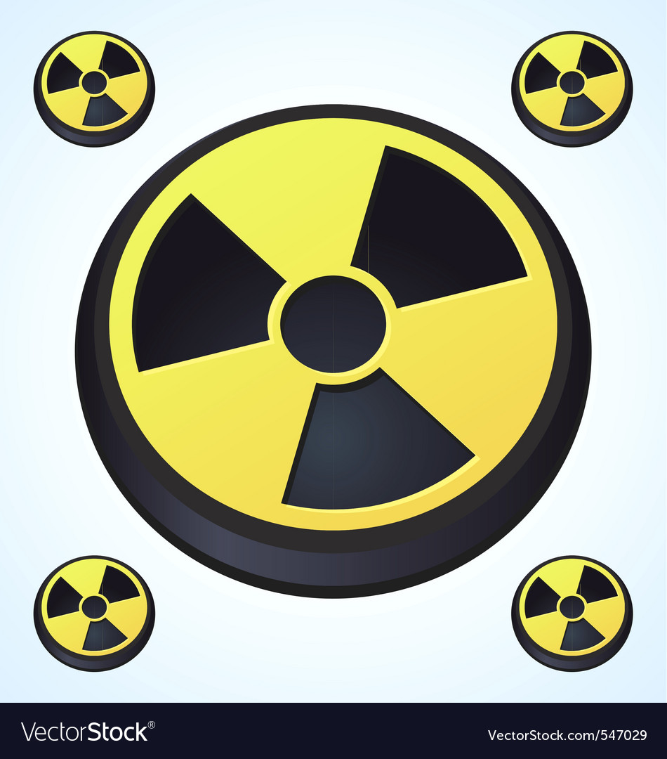 Radiation round sign vector | Price: 1 Credit (USD $1)