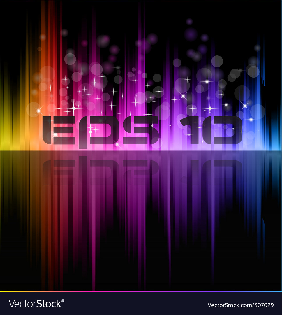 Rainbow lights background vector | Price: 1 Credit (USD $1)