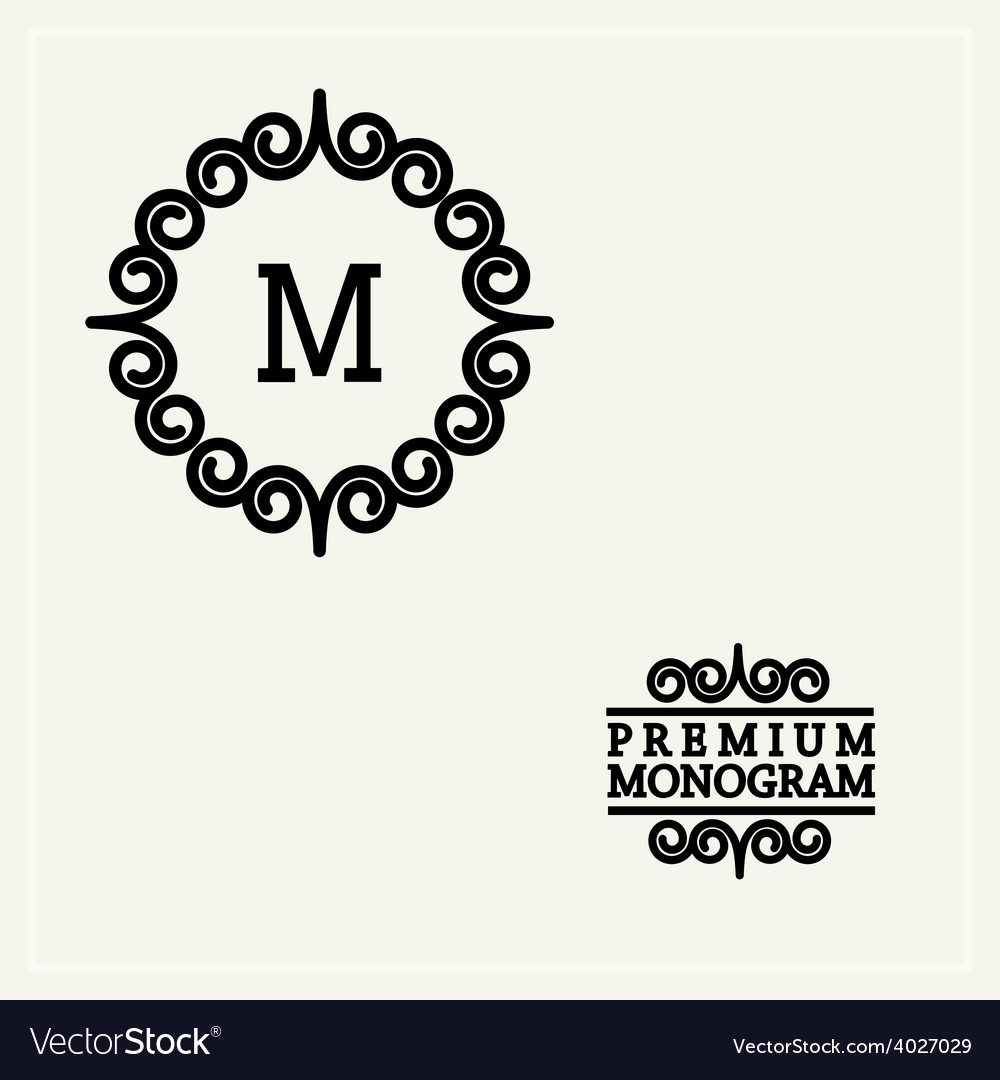 Stylish graceful monogram in art nouveau style vector | Price: 1 Credit (USD $1)