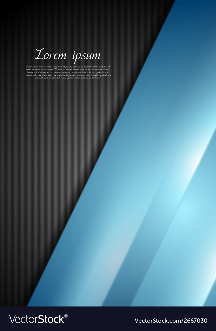 Abstract contrast black and blue background vector   Price: 1 Credit (USD $1)