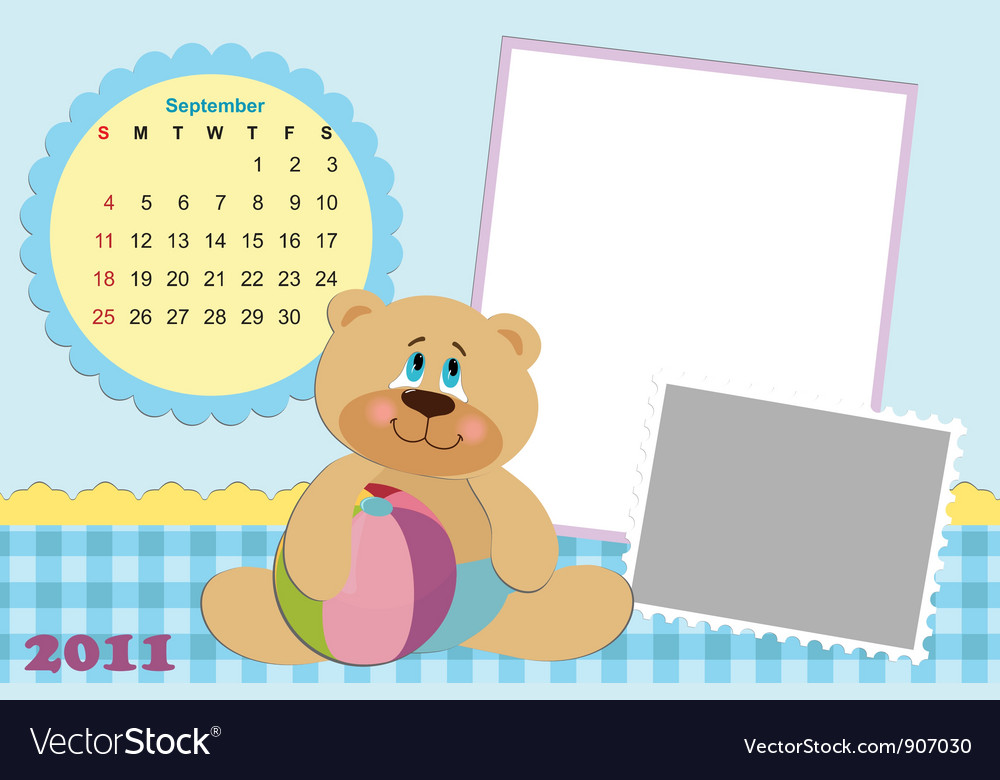 Babys monthly calendar for 2011 vector   Price: 1 Credit (USD $1)