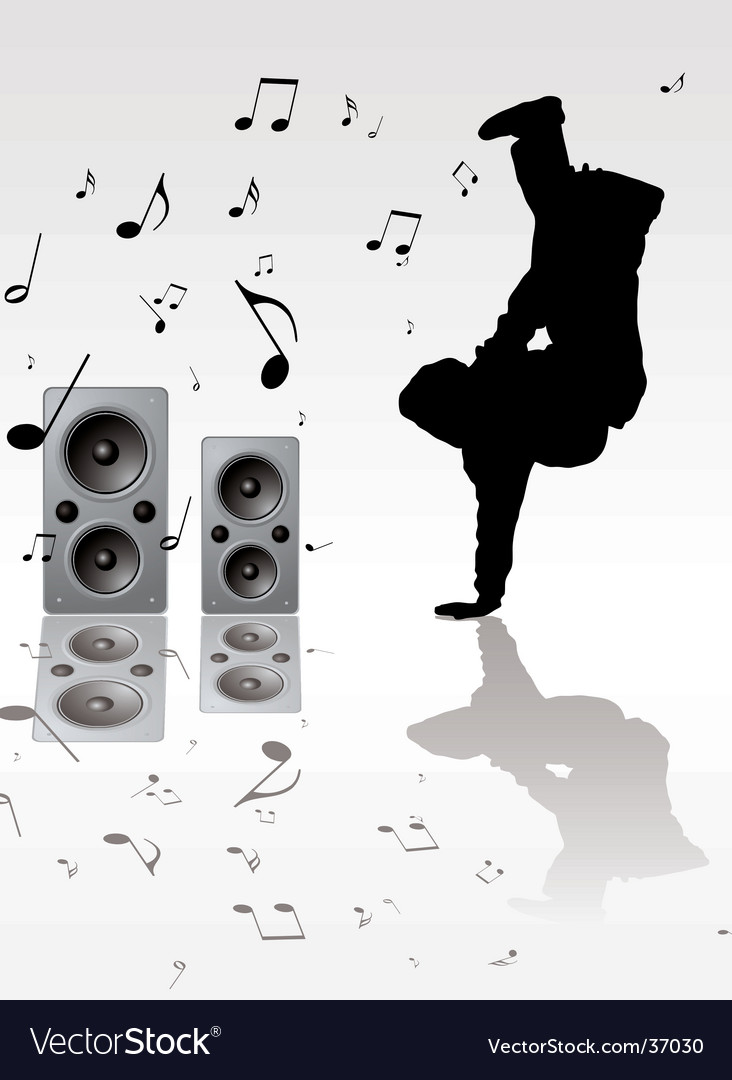Breakdance music vector | Price: 1 Credit (USD $1)