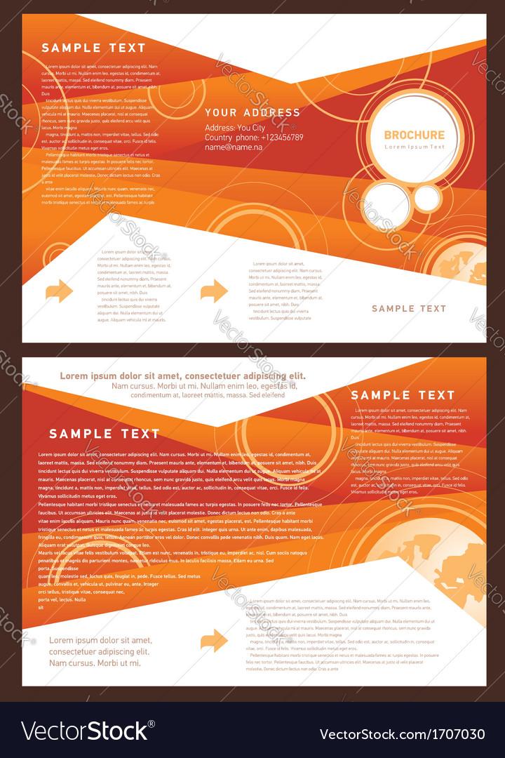 Brochure folder globe element design vector | Price: 1 Credit (USD $1)