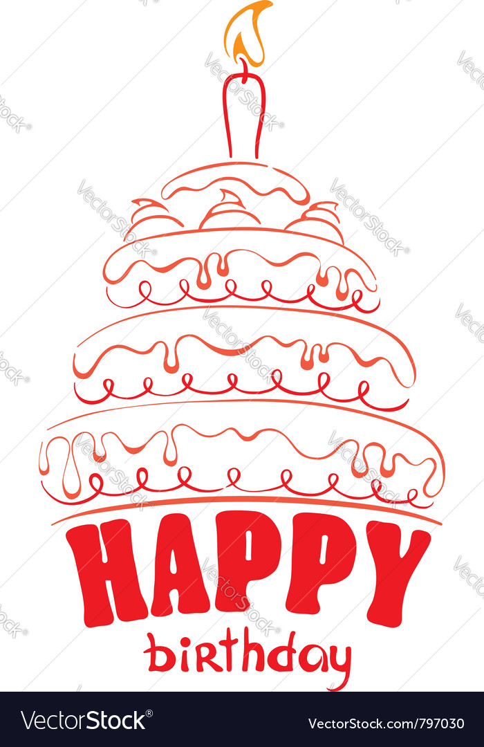 Cake - happy birthday vector | Price: 1 Credit (USD $1)