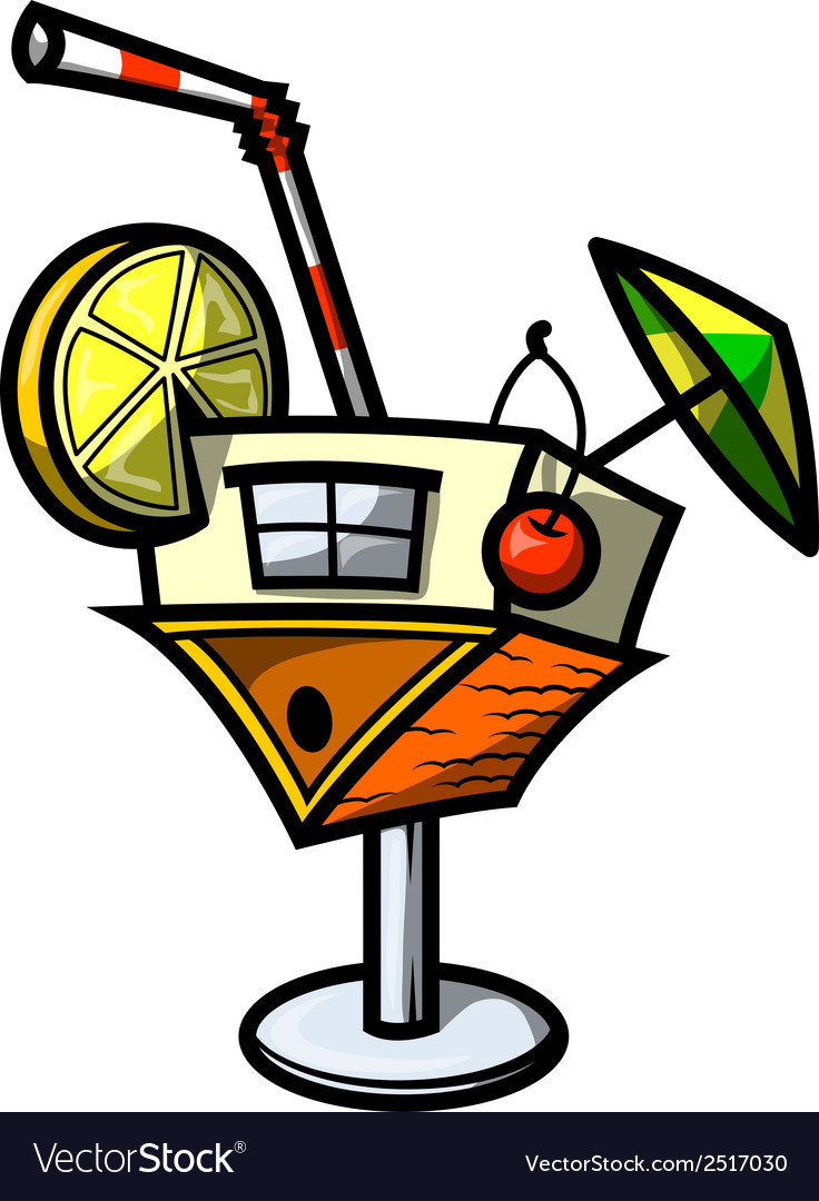 Cocktail house vector | Price: 1 Credit (USD $1)