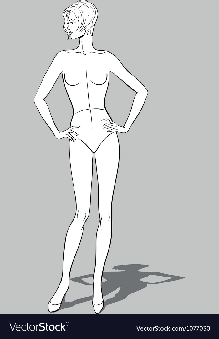 Female fashion figurine vector | Price: 1 Credit (USD $1)