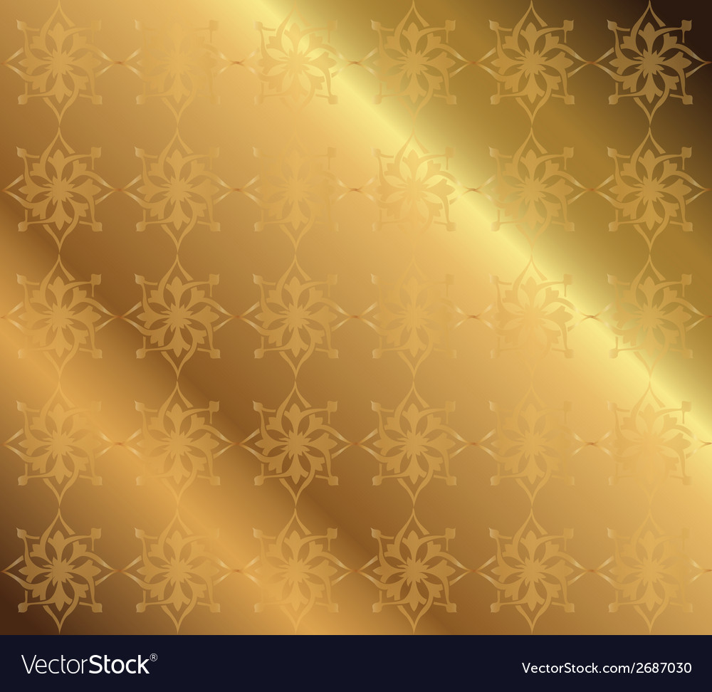 Golden background floral luxury ornamental vector | Price: 1 Credit (USD $1)