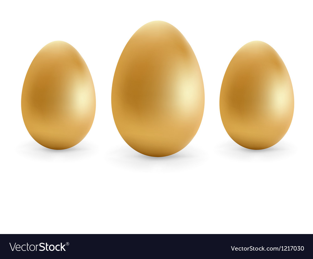 Golden eggs happy easter  eps8 vector | Price: 1 Credit (USD $1)