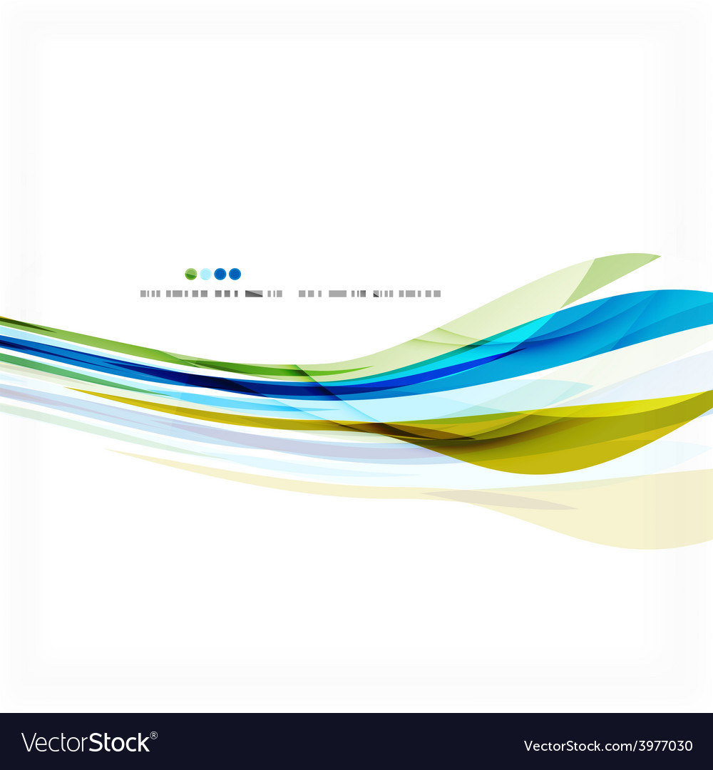Green and blue light air lines vector   Price: 1 Credit (USD $1)