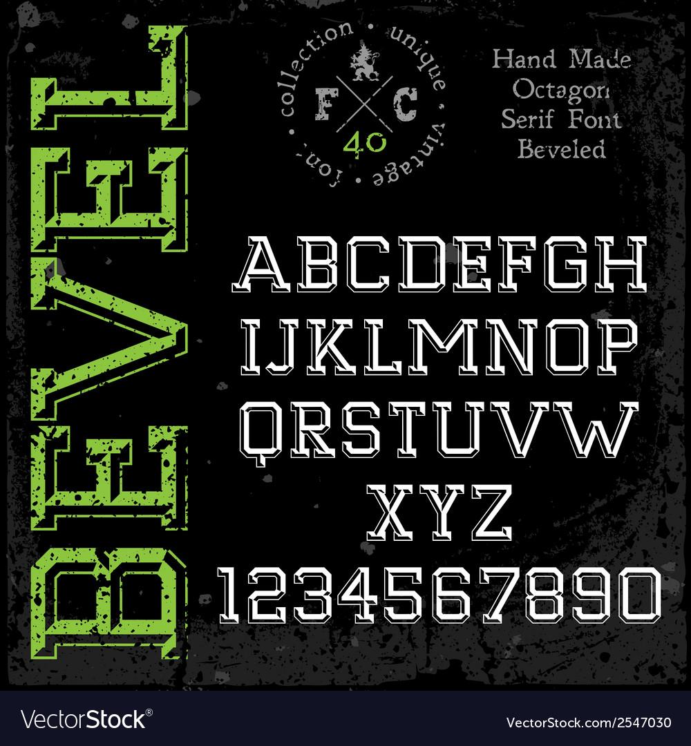 Handmade slab-serif font vector | Price: 1 Credit (USD $1)