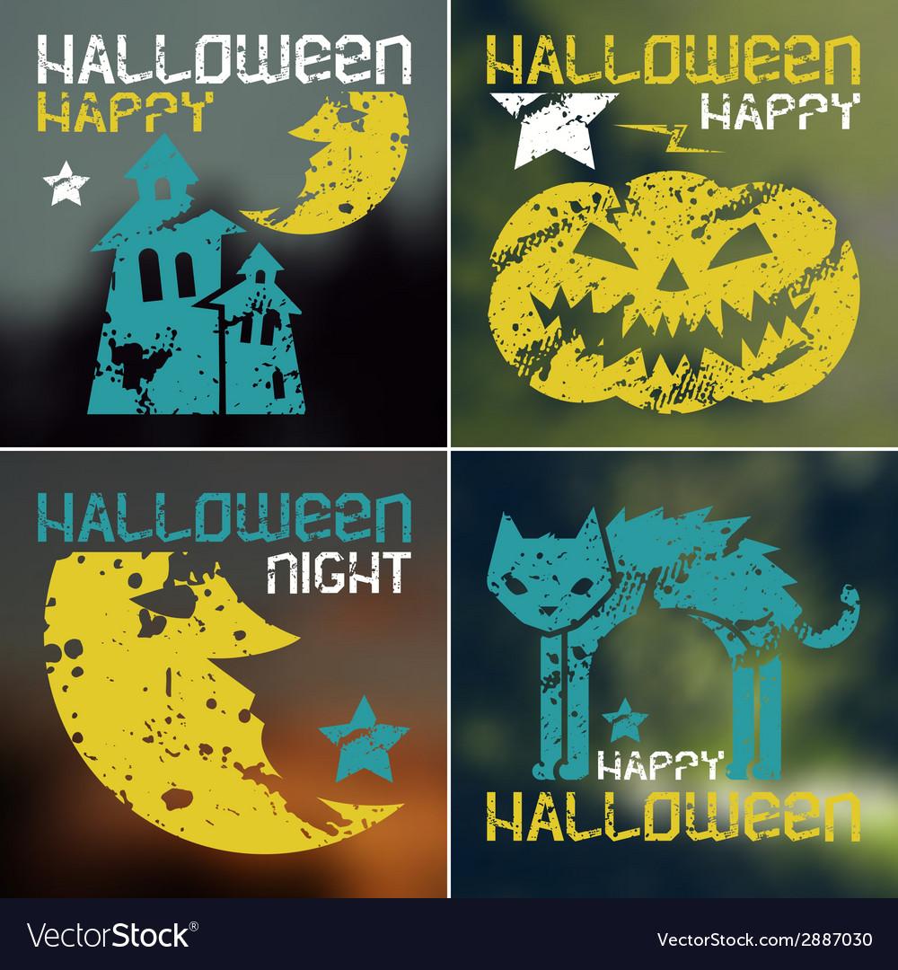 Happy halloween flyer vector | Price: 1 Credit (USD $1)