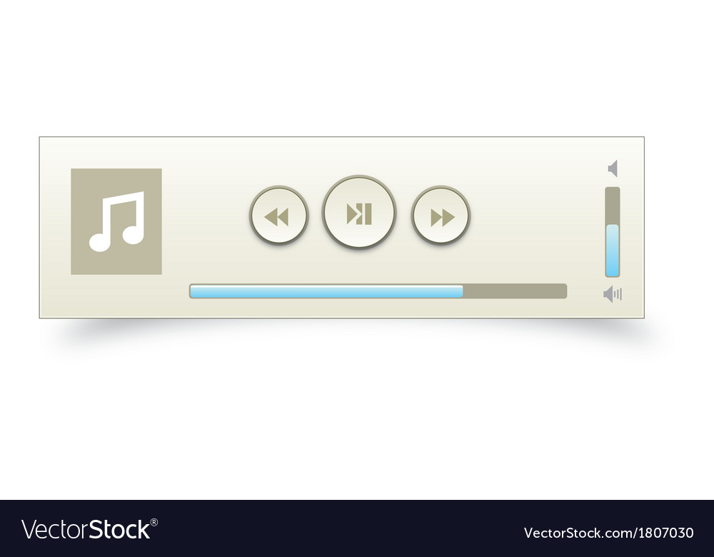 Music player 12 vector | Price: 1 Credit (USD $1)