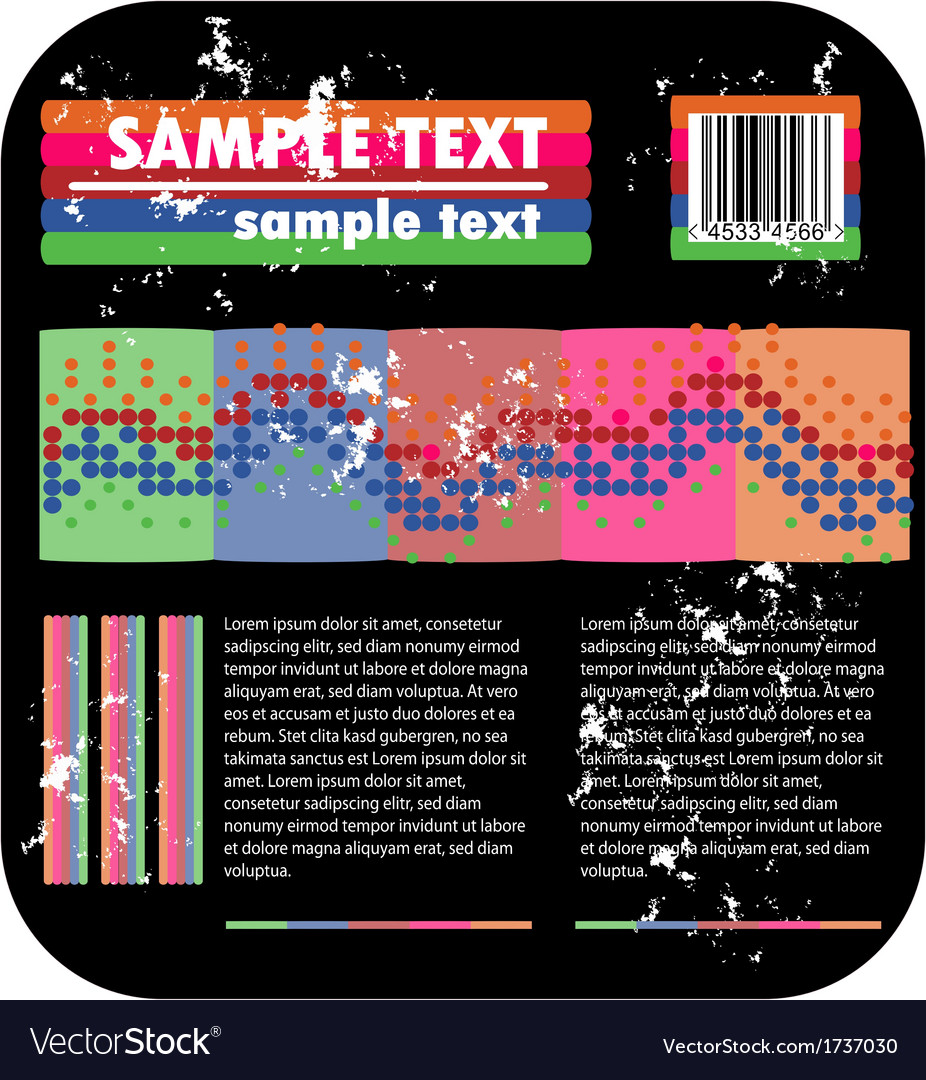 Psychedelic background and barcode vector | Price: 1 Credit (USD $1)