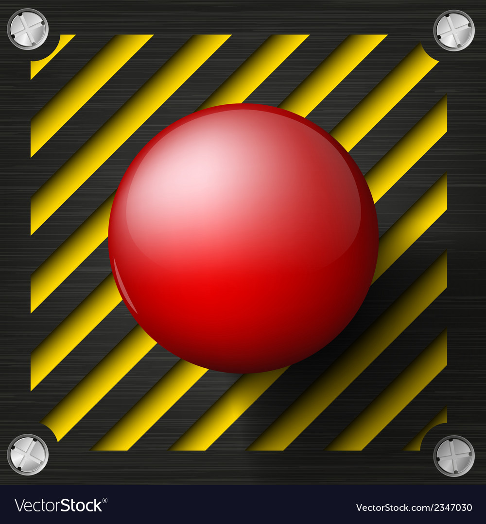 Red alarm shiny button vector | Price: 1 Credit (USD $1)