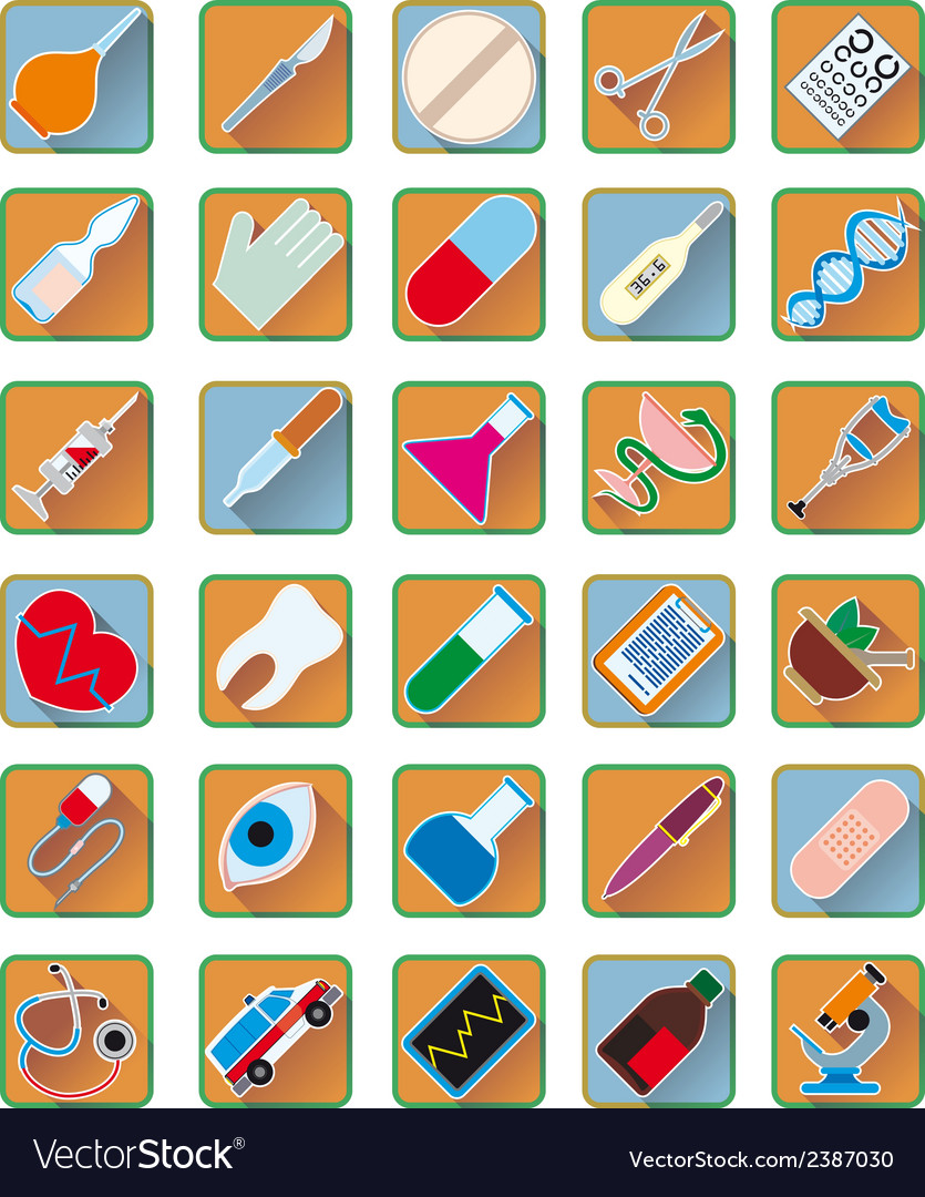 Set of medical accessories vector | Price: 1 Credit (USD $1)