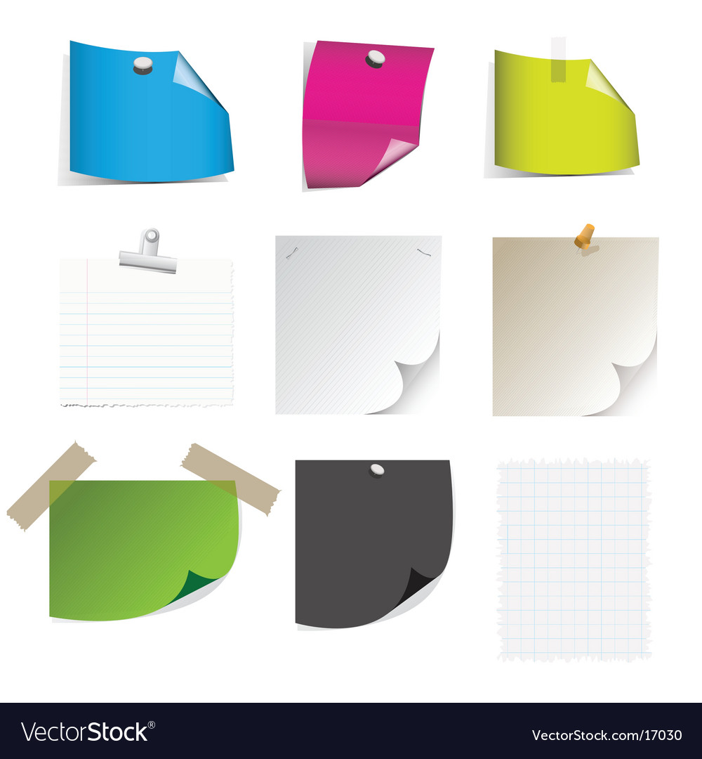 Sticky note pages vector | Price: 1 Credit (USD $1)