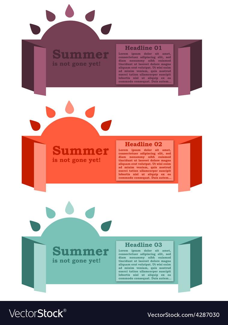 Summer banner vector | Price: 1 Credit (USD $1)