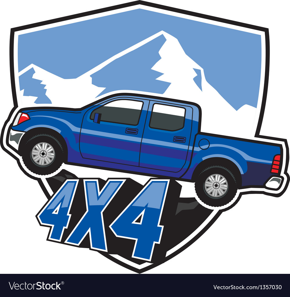 Suv car badge vector | Price: 1 Credit (USD $1)