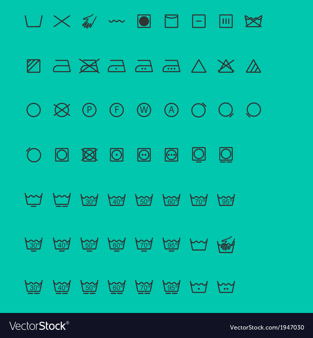 Wash icons vector | Price: 1 Credit (USD $1)