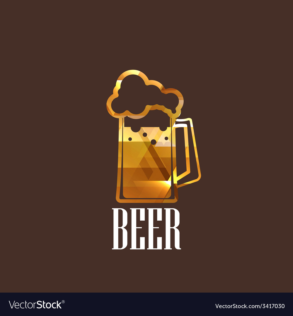 With beer glass icon vector | Price: 1 Credit (USD $1)
