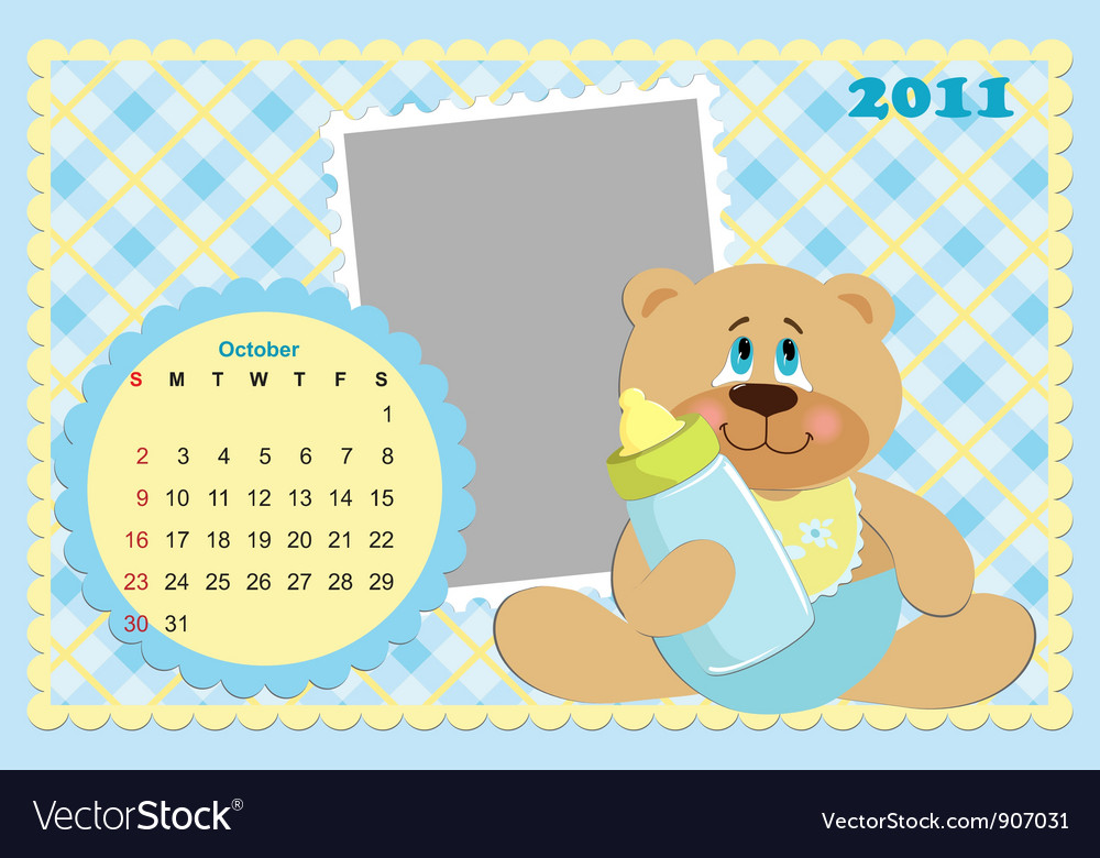 Babys monthly calendar for 2011 vector | Price: 1 Credit (USD $1)