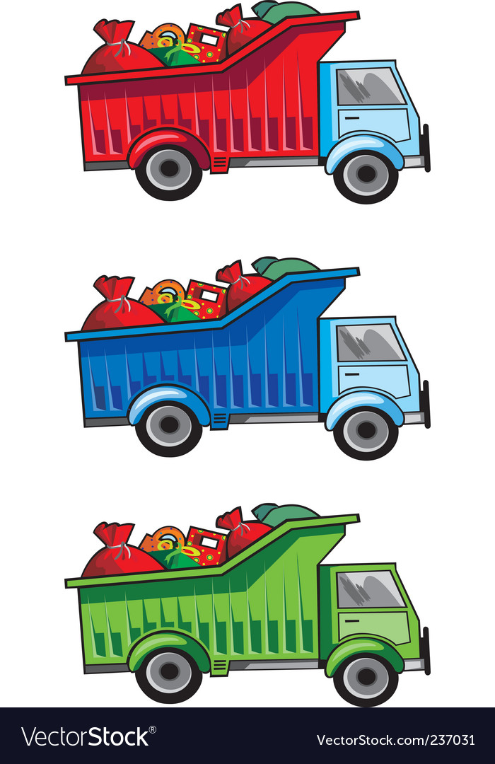 Christmas gift truck vector | Price: 1 Credit (USD $1)