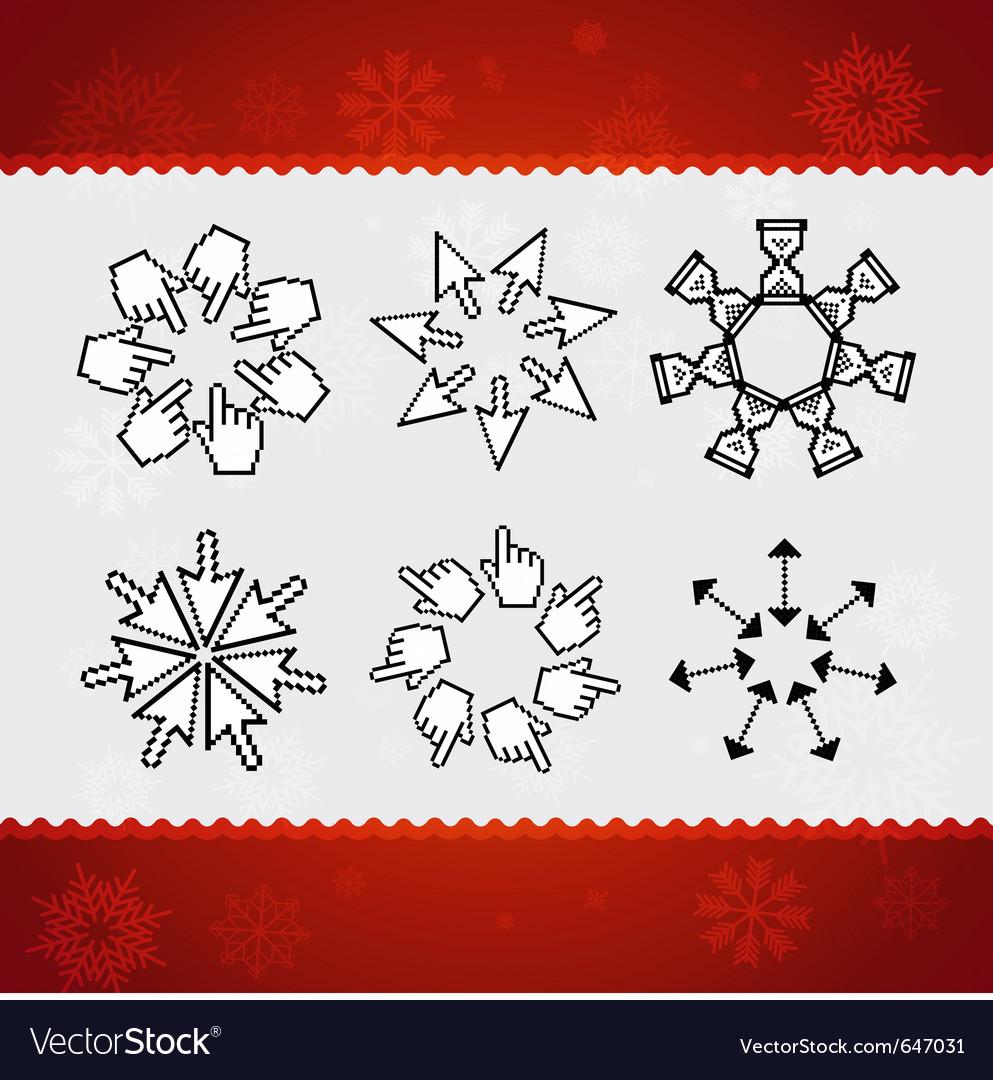 Creative christmas snowflakes vector | Price: 1 Credit (USD $1)
