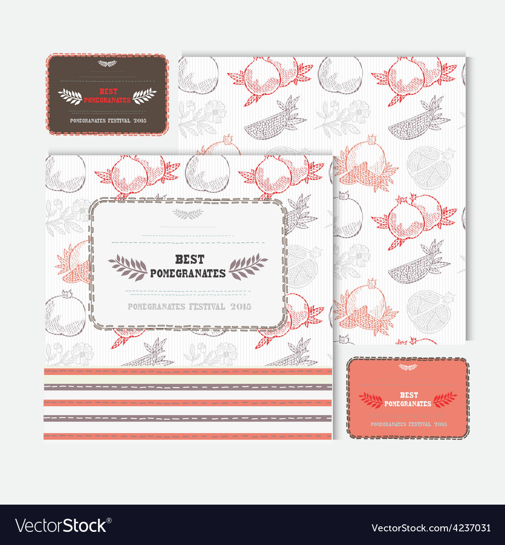 Fruit cards set vector | Price: 1 Credit (USD $1)