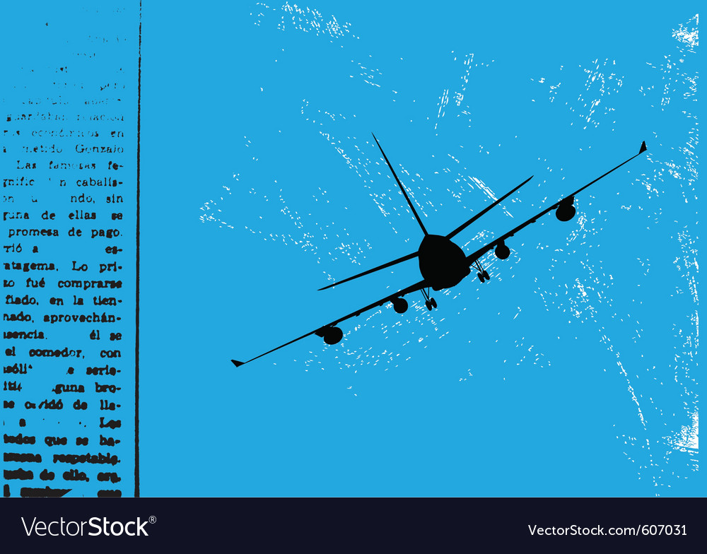 Grunge airplane vector | Price: 1 Credit (USD $1)